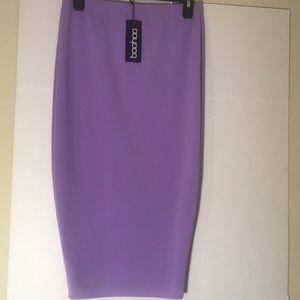 New Boohoo Lavender Pencil Skirt Size 8